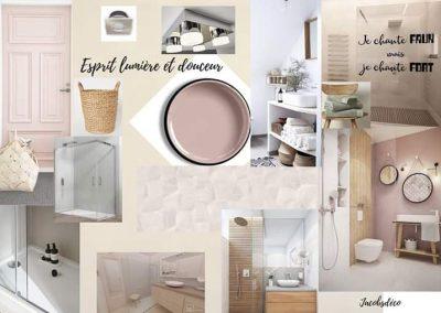 """Salle de bain """"Lumière et douceur"""""""